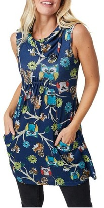 Dorothy Perkins Womens *Izabel London Multi Colour Owl Print Roll Neck Shift Dress