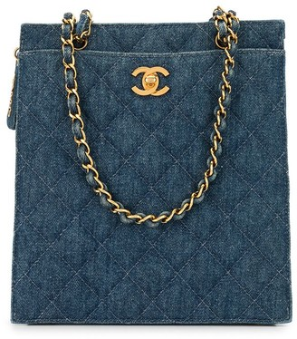 Chanel Pre Owned 1998 Diamond Quilted Denim Shoulder Bag