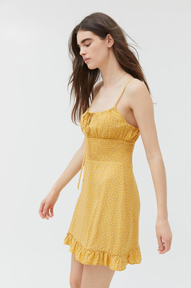 Dress Forum Polka Dot Empire Waist Mini Dress