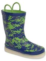 Western Chief Boy's Digital Camo Led Rain Boot