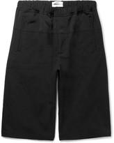 Oamc - Wide-leg Faille And Jacquard Shorts