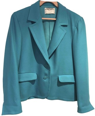 Jaeger Turquoise Wool Jacket for Women