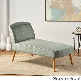 Christopher Knight Home Carisia Mid Century Modern Fabric Chaise Lounge
