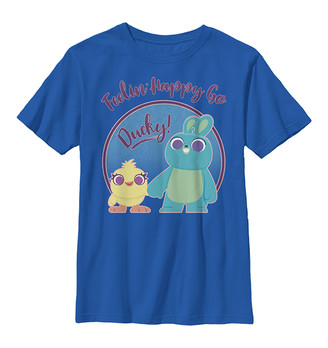 Fifth Sun Boys' Tee Shirts ROYAL - Toy Story Royal Ducky & Bunny Pastel Tee - Boys