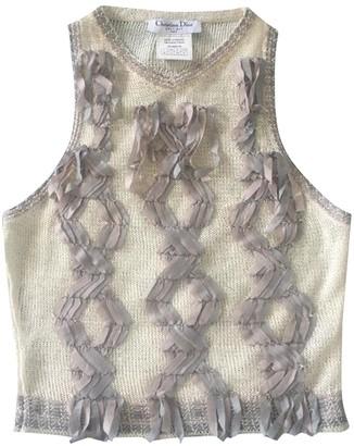 Christian Dior Ecru Linen Knitwear for Women Vintage