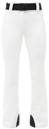 Goldbergh Pippa Belted Slim-fit Soft-shell Ski Trousers - White