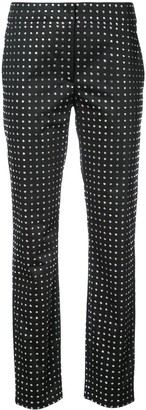 Moschino Swarovski crystal tailored trousers