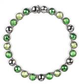 Larkspur & Hawk Olivia Button Riviere Necklace - Green