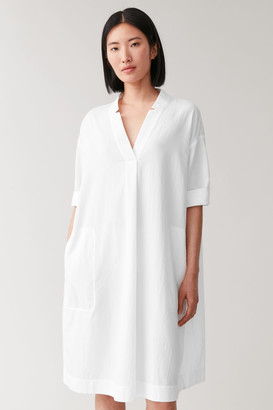 Cos Voluminous Cotton Shirt Dress