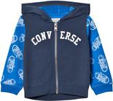 Converse Navy Printed Zip Hoody