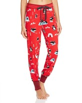 PJ Salvage Penguin Velour Thermal Banded Pajama Pants
