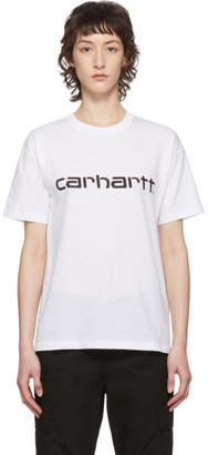 Carhartt Work In Progress White Script Logo T-Shirt