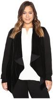 MICHAEL Michael Kors Size Velvet Drape Front Sweater