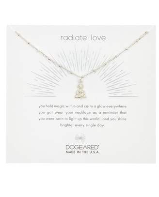 Dogeared Sterling Silver Shine Peaceful Buddha Pendant Necklace