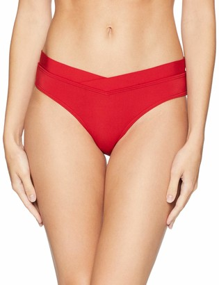 Jets Women's Jetset Banded Regular Bikini Bottom Swimsuit