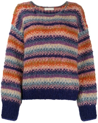 Mes Demoiselles Dolce oversized striped jumper