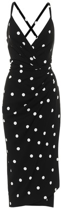 Dolce & Gabbana Polka-dot stretch-jersey midi dress