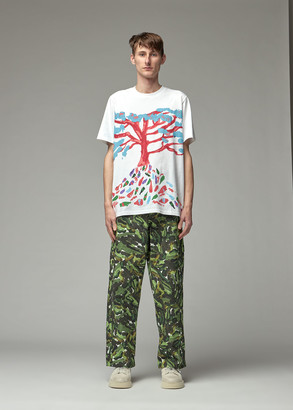 Marni Men's Printed T-Shirt in Lily White Size 46 100% Cotton