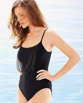 Soma Intimates Vintage Glam Round Neck One Piece Swimsuit