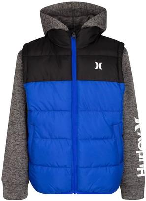 Hurley Boys 8-20 2Fer Hooded Full-Zip Jacket