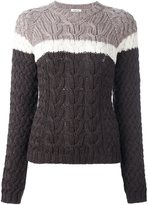 P.A.R.O.S.H. colour block cable knit sweater - women - Wool - S