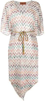 Missoni Mare metallic zig-zag knitted kaftan