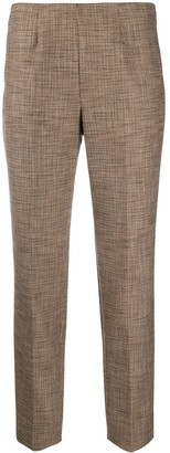 Piazza Sempione Checked Slim-Fit Trousers