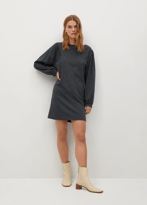 MANGO Puffed sleeves knit dress