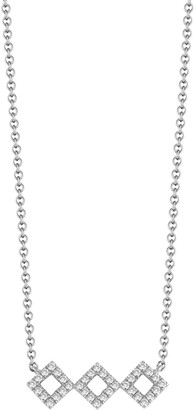 Dana Rebecca 14K White Gold Diamond Accented Lisa Michelle Necklace - 0.13 ctw