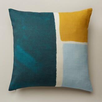 "Oui Chromatic Squares Pillow Cover Bluegrass 18"" X 18"""