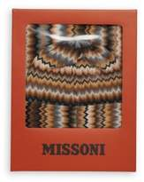 Missoni Fringe Trim Hat & Scarf Set