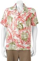 Caribbean Joe Men's Casual Tropical Button-Down Shirt