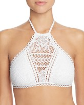 Becca by Rebecca Virtue Prairie Rose High Neck Bikini Top