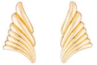 Christian Dior Ribbon Clip-On Earrings