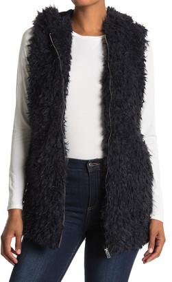 Love Token Tommy Faux Fur Hooded Vest
