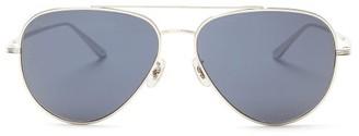 The Row X Oliver Peoples Casse Aviator Titanium Sunglasses - Silver