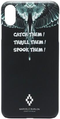Marcelo Burlon County of Milan Wings slogan print iPhone XS case