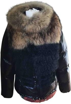 Twin-Set Twin Set Black Raccoon Coat for Women