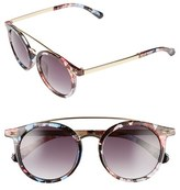A. J. Morgan Women's A.j. Morgan 'Loop' 50Mm Retro Sunglasses - Blue Multi