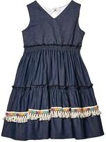 Fiveloaves Twofish fiveloaves twofish Three Tier Dress (Little Kids/Big Kids) (Denim) Girl's Dress