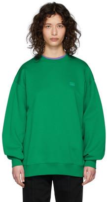 Acne Studios Green Oversized Face Sweatshirt