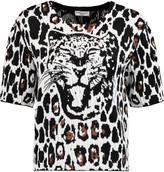 Sonia Rykiel Leopard-print jacquard top