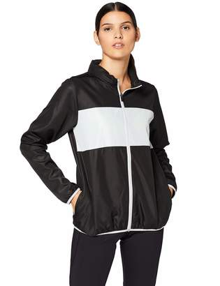 Iris & Lilly Women's Track Jacket with Colour Block Panel Long Sleeves and Hooded