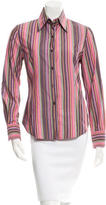 Etro Striped Long Sleeve Button-Up