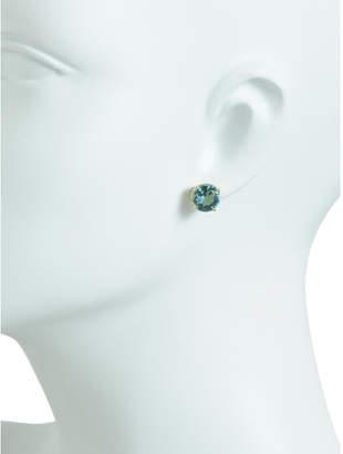 Made In Israel Sterling Silver Aquamarine Stud Earrings