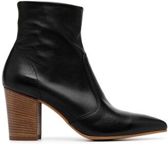 Carvela Sculpture pointed heeled boots