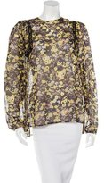Giamba Floral Print Long Sleeve Top