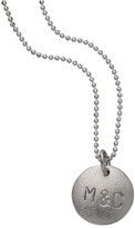Zoe Chicco Personalized Sterling Silver Disk Necklace