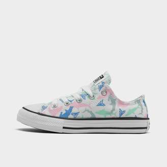 Converse Girls' Little Kids' Chuck Taylor All Star Ocean Prints Low Top Casual Shoes