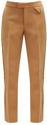Bottega Veneta Tailored Canvas Straight-leg Trousers - Camel